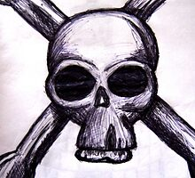 Skull and Cross Bones Sketch by blueclover