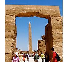 Obelisk at Temple of Karnak Photographic Print
