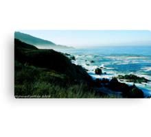 #531   Pacific Coastline Canvas Print