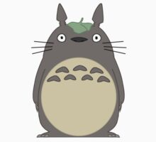 Totoro with Leaf by TimeladyAt221b