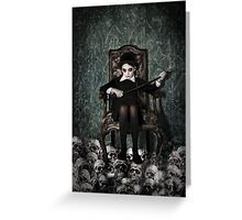 Queen of Skulls Greeting Card