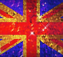 Sparkly UK Flag by Kitty Bitty