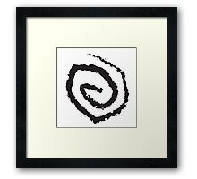 The Yellow Sign (black) Framed Print