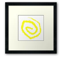 The Yellow Sign Framed Print