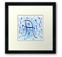 A is for... Framed Print