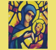 Madonna and Child - Stained Glass Kids Clothes