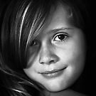 """""""Heredity determines the color of her eyes, but environment lights them up.""""  by Duane Hart"""