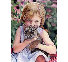 The Girl and Her Tiger Photographic Print