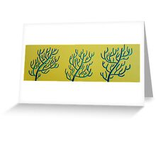 Purple and Teal Coral on Naples Hue Yellow Greeting Card