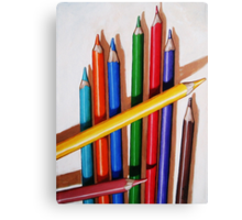 """Color Me Happy"" - realistic still life colored pencils Canvas Print"