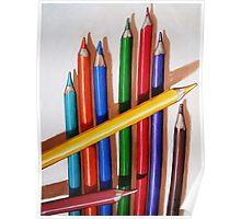 """Color Me Happy"" - realistic still life colored pencils Poster"