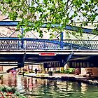 San Antonio TX - Bridge on Paseo Del Rio by Susan Savad