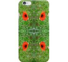 Daisy and Poppy in the Grass iPhone Case/Skin