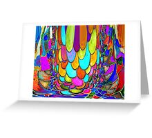 Falling Water Droplets Greeting Card