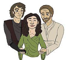 Padme + Jedi boys by felixfelicitas