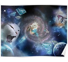 Cats & Unicorns in Space! Poster