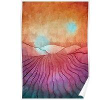 Sun Burst over Downland Fields  Poster