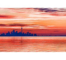Pink and Purple Sunrise – Toronto Skyline Impressions Photographic Print
