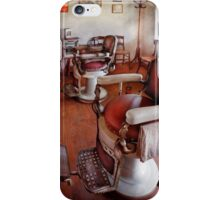 Barber - Please have a seat iPhone Case/Skin