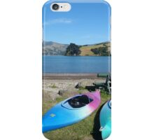 On the shore of Akaroa Harbour iPhone Case/Skin