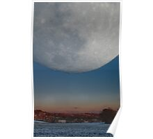 Moonrise over Warley Town Poster