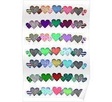 Hearts in a line Poster