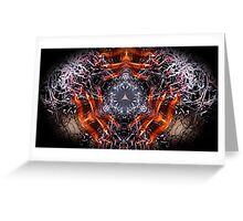 Dark Flames 1 eliptical Greeting Card