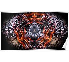 Dark Flames 1 eliptical Poster
