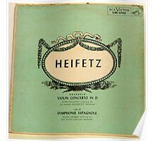 Heifetz - early album cover- violin Poster