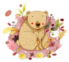 Bear with Honey-Pot by Judith Loske