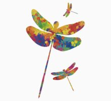 Dragonfly Watercolor Art Kids Clothes