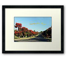 Greetings from Drouin, Australia Framed Print