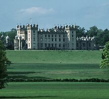 Floors castle from across the river caravan park Kelso Northumbria England 198405290084  by Fred Mitchell
