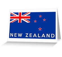 flag of New Zealand Greeting Card