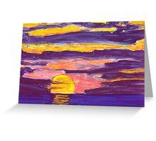 Golden Sunset2 Greeting Card