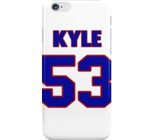 National football player Kyle Knox jersey 53 iPhone Case/Skin