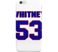 National football player Whitney Paul jersey 53 iPhone Case/Skin
