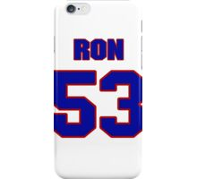 National football player Ron Lou jersey 53 iPhone Case/Skin