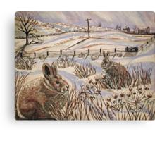 """Snow patrol"" Canvas Print"