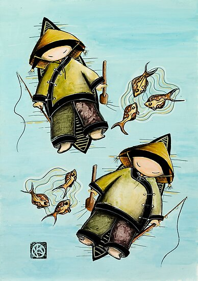 Fishing Mates by Karin  Taylor