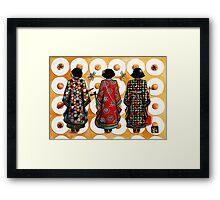 Tang Court Trio Musicians Framed Print