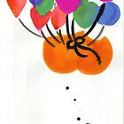 Floating bum instilation (suspended by helium balloons) circa 2002. by Lasaration