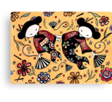 Two Asian Dolls Canvas Print
