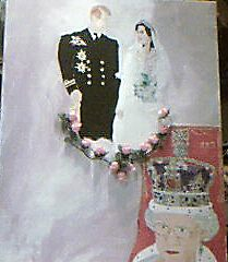 HRM Queen Elizabeth 2nd , A Royal Wedding Portrait by TGreywolf MacNeil by Ir1shWolf