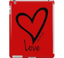 LOVE....#BeARipple Black Heart on Red iPad Case/Skin
