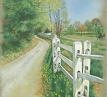 Country Fence by Kate Eller