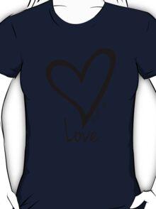 LOVE....#BeARipple Black Heart on Lavender T-Shirt