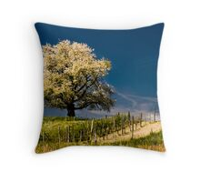 Blossoming cherry tree in spring Throw Pillow