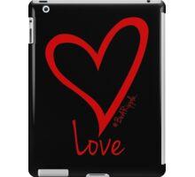 LOVE....#BeARipple Red Heart on Black iPad Case/Skin