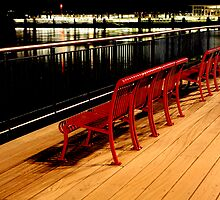 Benches Exchange Pl. Jersey City by pmarella